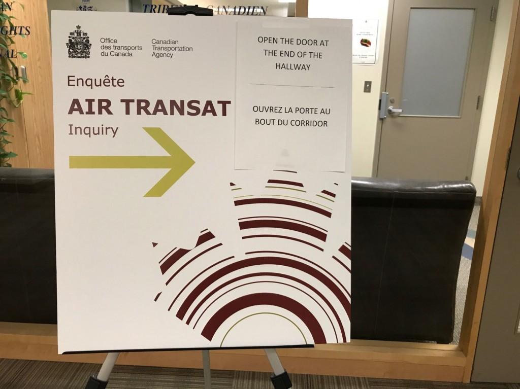 Air Transat CTA hearing - Aug. 30-31, 2017