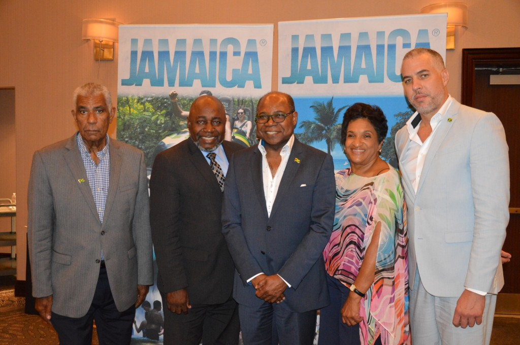 Jamaica Tourist Board with Tourism Minister Edmund Bartlett